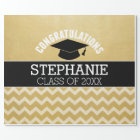 Congratulations Graduate - Personalized Graduation Wrapping Paper