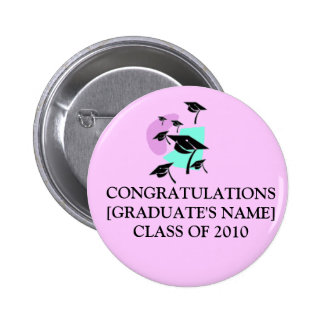 CONGRATULATIONS[GRADUATE'S NAME]CLASS OF 2014 2 INCH ROUND BUTTON