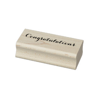Congratulations Graduation New Baby Home Job Wood Rubber Stamp