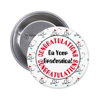 Congratulations graduation nurse party button