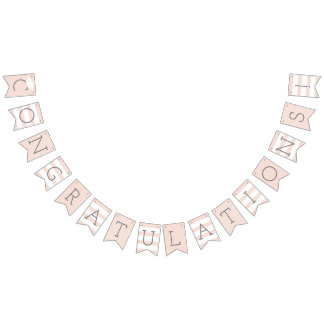 Congratulations Graduation Party | Blush Pink Bunting Flags