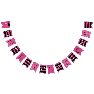 Congratulations Graduation Party | Hot Pink Bunting Flags