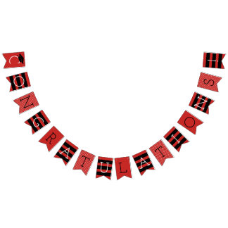 Congratulations Graduation Party | Red Bunting Flags
