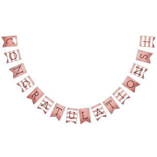 Congratulations Graduation Party | Rose Gold Bunting Flags