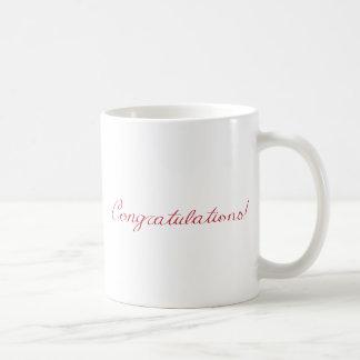 Congratulations - handwritten note coffee mug