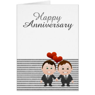 Congratulations Happy Anniversary Gay Themed Card