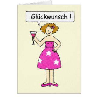 Congratulations in German. Card