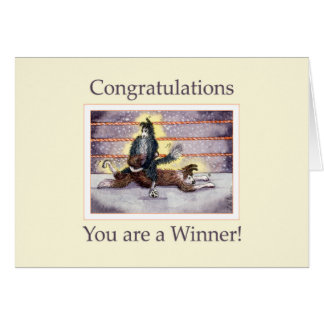 Congratulations, inside blank, dog card
