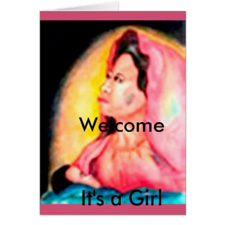 CONGRATULATIONS, It' a NEW BORN BABY GIRL Greeting Card