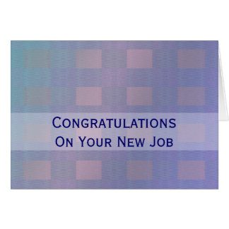 Congratulations Job pastel blue Card