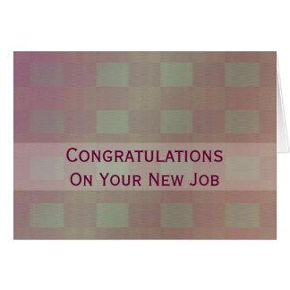 Congratulations Job pastel mauve Card
