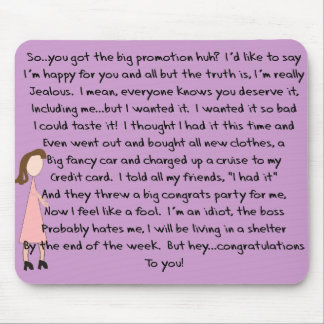 Congratulations Job Promotion Gifts (Female) Mouse Pad