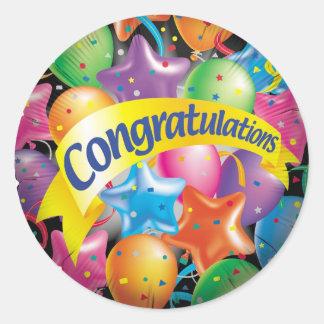 Congratulations.jpg Classic Round Sticker