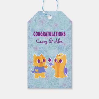Congratulations Kawaii Dog Puppy Love Yorkies Pack Of Gift Tags