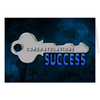 CONGRATULATIONS - KEY TO SUCCESS CARD
