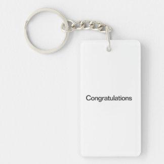 Congratulations Double-Sided Rectangular Acrylic Keychain