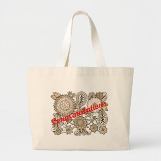Congratulations Large Tote Bag