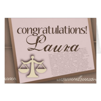 Congratulations Law School Graduate Greeting Card