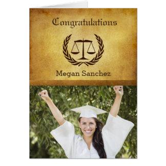 Congratulations Law School Graduate Greeting Card