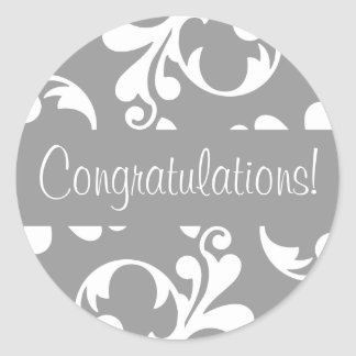 Congratulations Leaf Flourish Envelope Seal