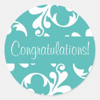 Congratulations Leaf Flourish Envelope Seal