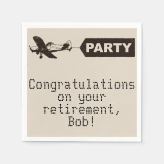 Congratulations Military Retirement Party Napkins Paper Napkin