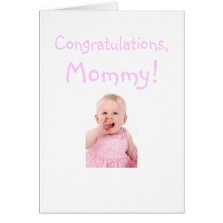 Congratulations Mom From New Baby Card