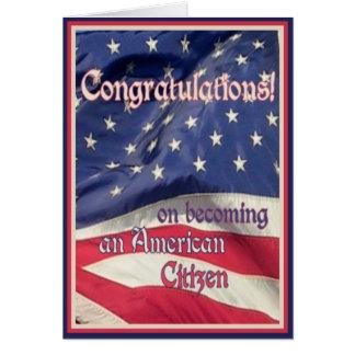 Congratulations-New American Citizen+Flag Card