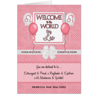 Congratulations New Baby Girl Leo Greeting Cards