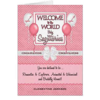 Congratulations New Baby Girl Sagittarius Greeting Card