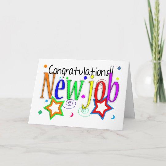 Congratulations New Job Greeting Card New Job