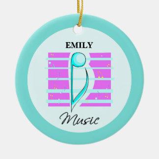 Congratulations Note, Musical Performance Ceramic Ornament