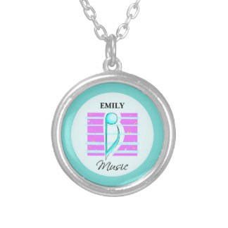 Congratulations Note, Musical Performance Silver Plated Necklace