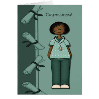 Congratulations Nurse Graduate Green Custom Card