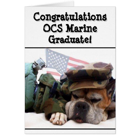 Congratulations OCS Marine boxer dog greeting card