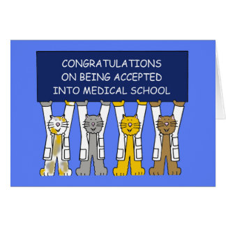 Congratulations on  acceptance into medical school card