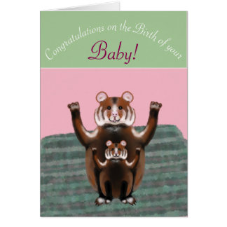 Congratulations on Baby's Birth, cute Hamsters Card