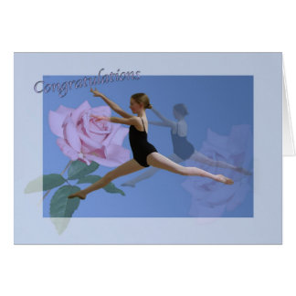 Congratulations on Ballet Dance Recital Card