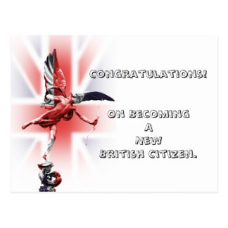 Congratulations on becoming a British Citizen! Postcard
