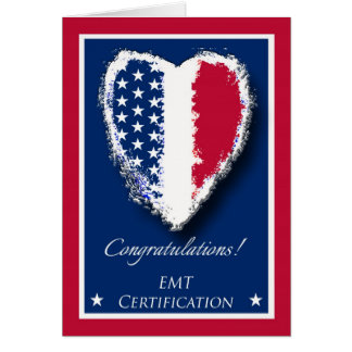 Congratulations on EMT Certification, Patriotic Card