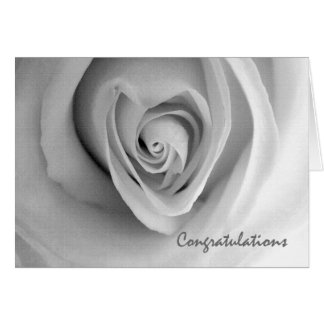Congratulations on Engagement, Heart Shaped Rose Card