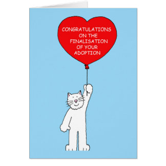 Congratulations on finalisation of your adoption. card