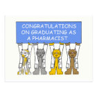 Congratulations on graduating as a pharmacist. postcard