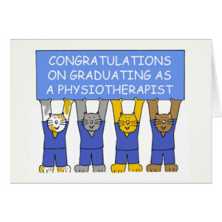 Congratulations on graduating as a Physiotherapist Card
