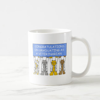 Congratulations on graduating as a veterinarian. coffee mug