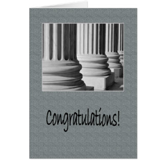 Congratulations on Graduating from Law School Card