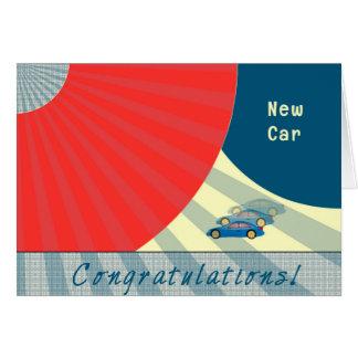 Congratulations on New Car, Contemporary Card