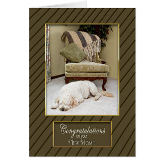 CONGRATULATIONS ON NEW HOME - WARM AND FUZZY CARD