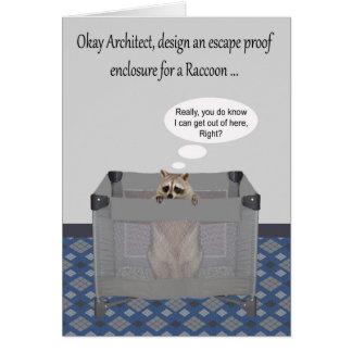 Congratulations on new job as an architect card