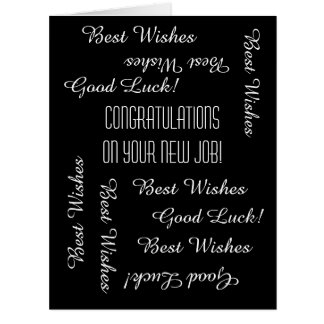 Congratulations on New Job from All of Us, JUMBO Big Greeting Card